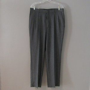 NWT Haggar Gray Pleated Dress Pants Size 34f